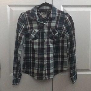 North Face Women's Button Down Plaid Shirt